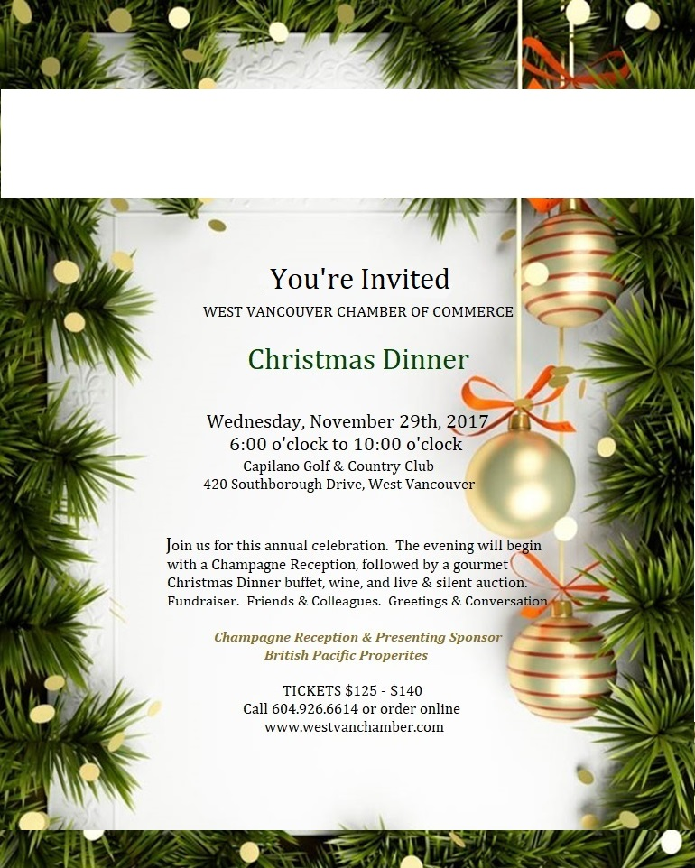 You 39 Re Invited Chamber Christmas Dinner Auction The